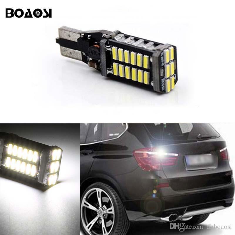 T15 W16W Canbus 6000 k Xenon Branco 30SMD LED de Backup Lâmpada de Luzes Inversas Para BMW Série 5 E60 E61 F10 F11 F07 Mini Cooper