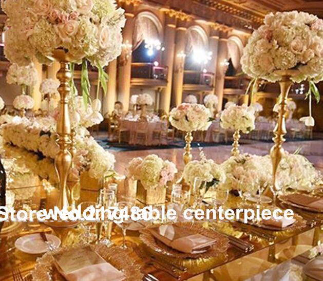 Yeni stil varış Çiçek aranjmanı, Yapay çiçek düğün masa centerpieces için standı