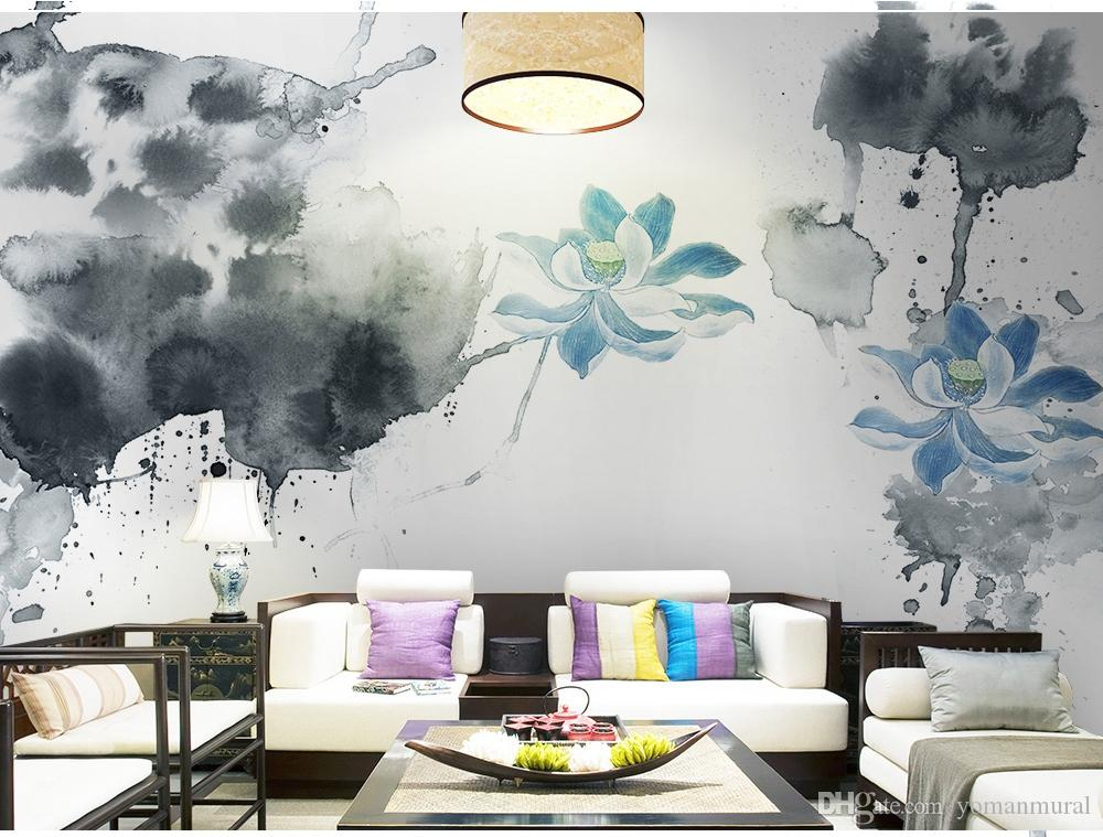 Wallpaper Mural Tv Background Wall Living Room Bed Room 3 D Wall Paper Modern Printed Lotus 3d Wallpapers From Yomanmural 44 21 Dhgate Com