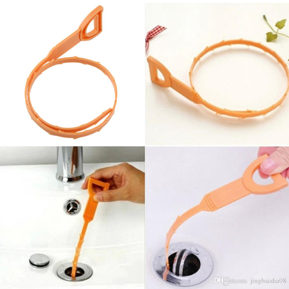 1 Pc Snake Shaped Sink Cleaner Bathroom Toilet Kitchen Drain Removes Clogged Hairs Cleaning Brush for Home Cleaning Tool