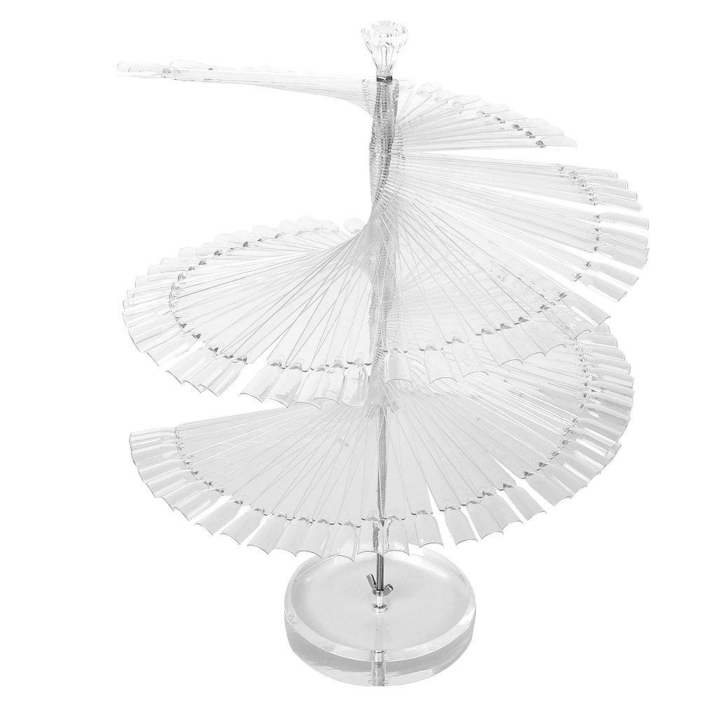 Wholesale- Pro Spiral Fan Shape Display Stand Holder for 120pc False Nail Art Polish Board Tips Stick
