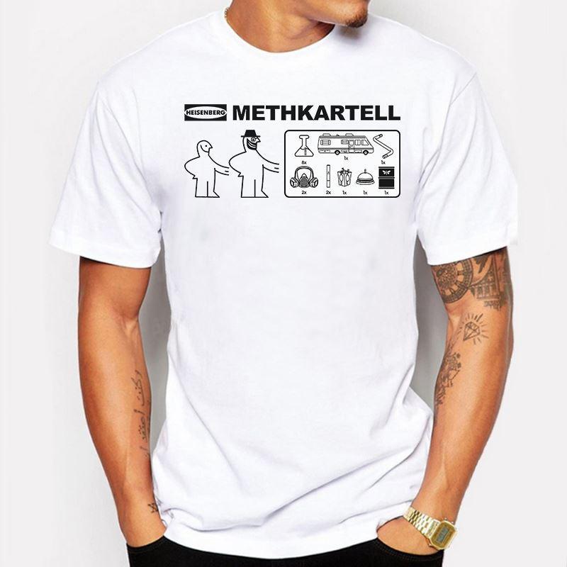 Мужская одежда ломать плохие футболки мужчины лето Лос-Pollos Hermanos Уолтер Белый повар Я Тот, кто стучит Гейзенберг человек о шеи