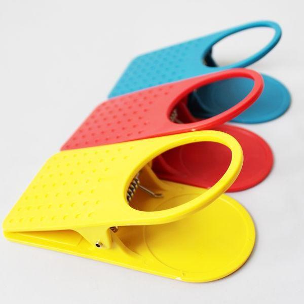 Goedkope groothandel korea creatieve tafel glas clip grote clip tafel beker houder clip keuken tafel levert