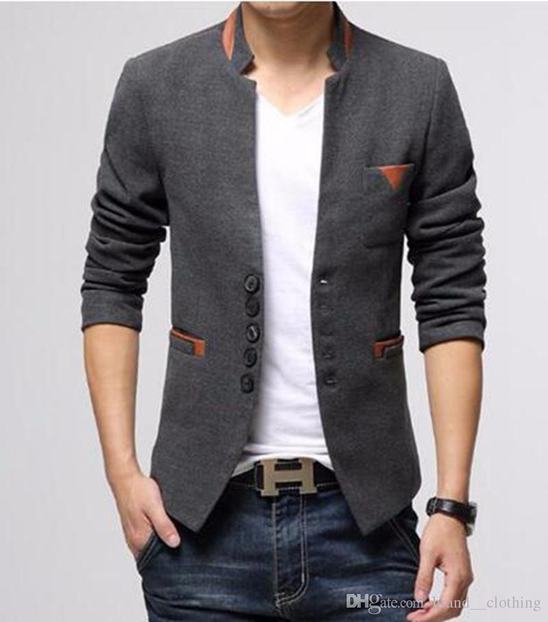 Männer im Frühjahr und Herbst in Europa und den Vereinigten Staaten die neue Boutique-High-End-Verdickung Kragen Jacken / M-3XL