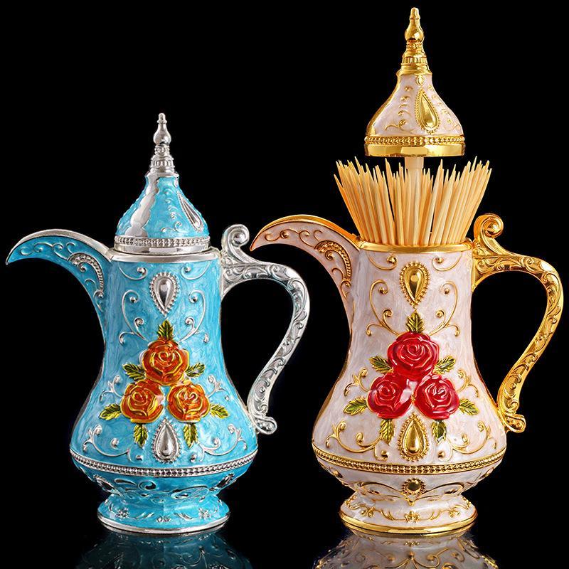 Russia europea artigianato e regali moda creativa di alta qualità in metallo stuzzicadenti casella casa corte personalità stuzzicadenti estintori