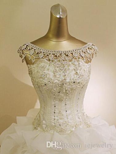 Vintage Düğün Gelin Takı Seti Omuz Zincir Kolye Set Gümüş Kristal Rhinestone Vücut Zincir kolye kolye Parti Takı Tedarikçiler