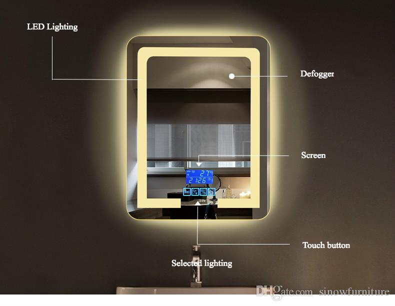 bathroom wall mount lighting led vanity mirror with lights bathroom mirrors with touch button screen for