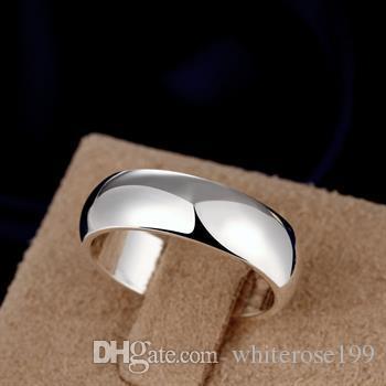 도매 - 소매 최저 가격 크리스마스 선물, 무료 배송, 새로운 925 실버 패션 반지 R025