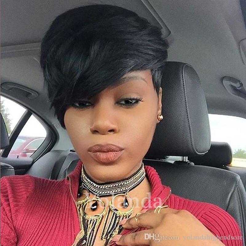 Short Wigs For African American Women Rihanna