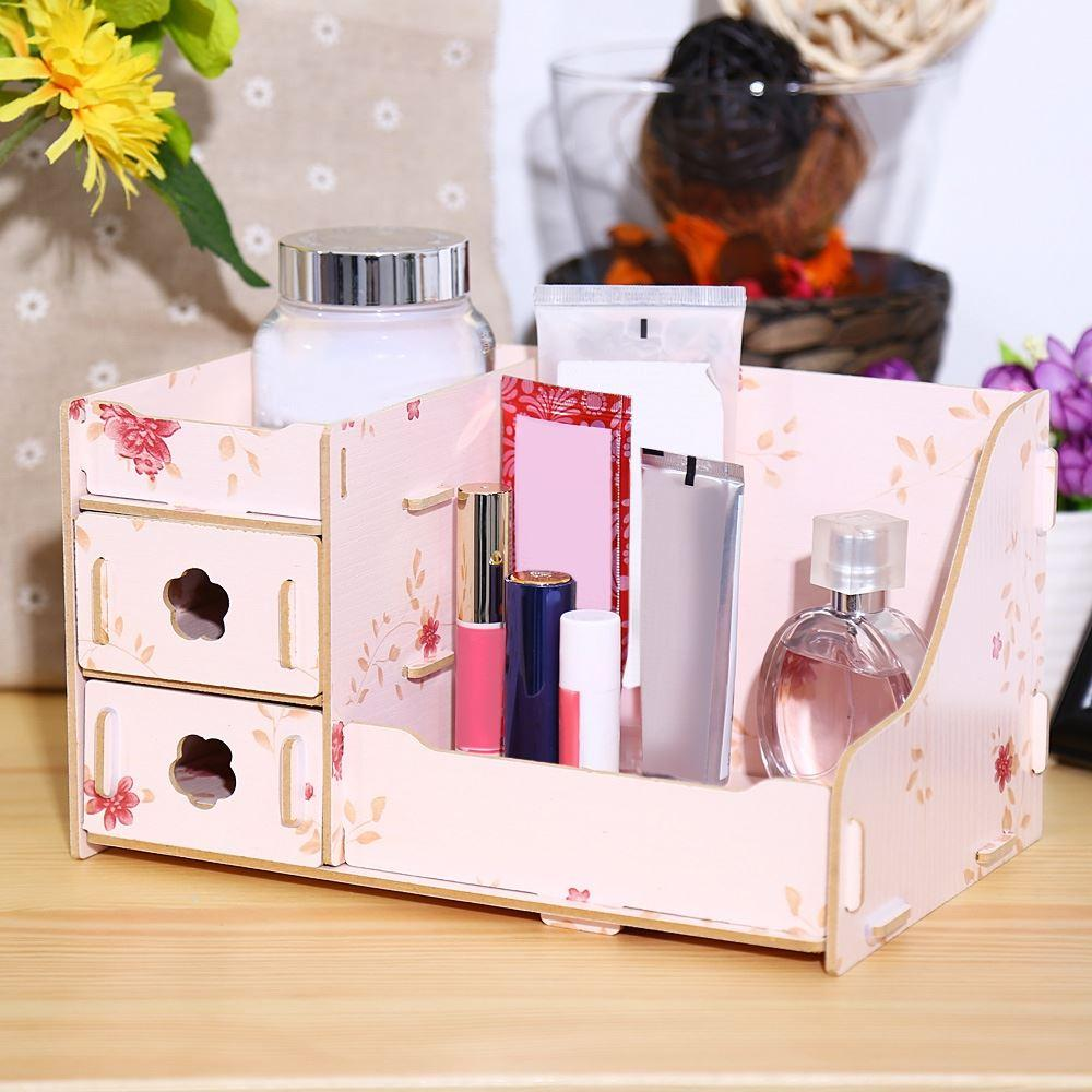 2020 Modern Wooden Storage Box Makeup Organizer Case Container Handmade Diy Assembly Cosmetic Make Up Jewelry Organizer Wood Box From Tanzhilian 21 61 Dhgate Com