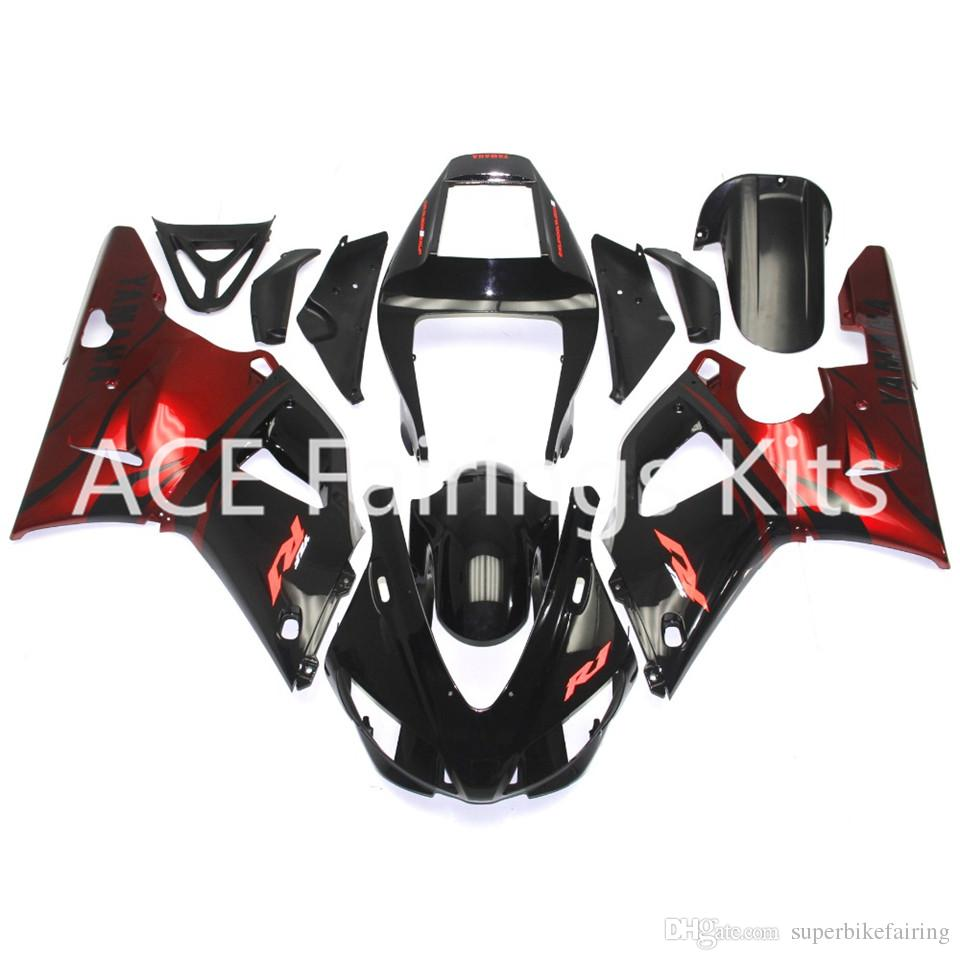 3 free gifts Complete Fairings For Yamaha YZF 1000-YZF-R1-98-99 YZF-R1-1998-1999 Motorcycle Full Fairing Kit Black red style v30
