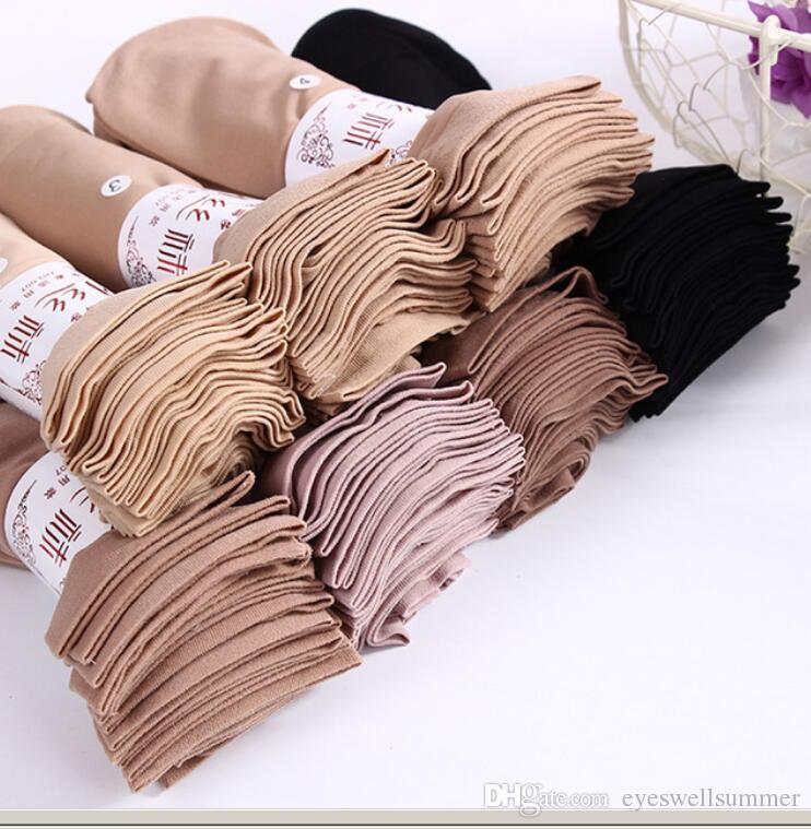 Calze da donna in nylon sottile con lacci per donna. Morbida pelle traspirante traspirante trasparente per calzamaglia elastica femminile