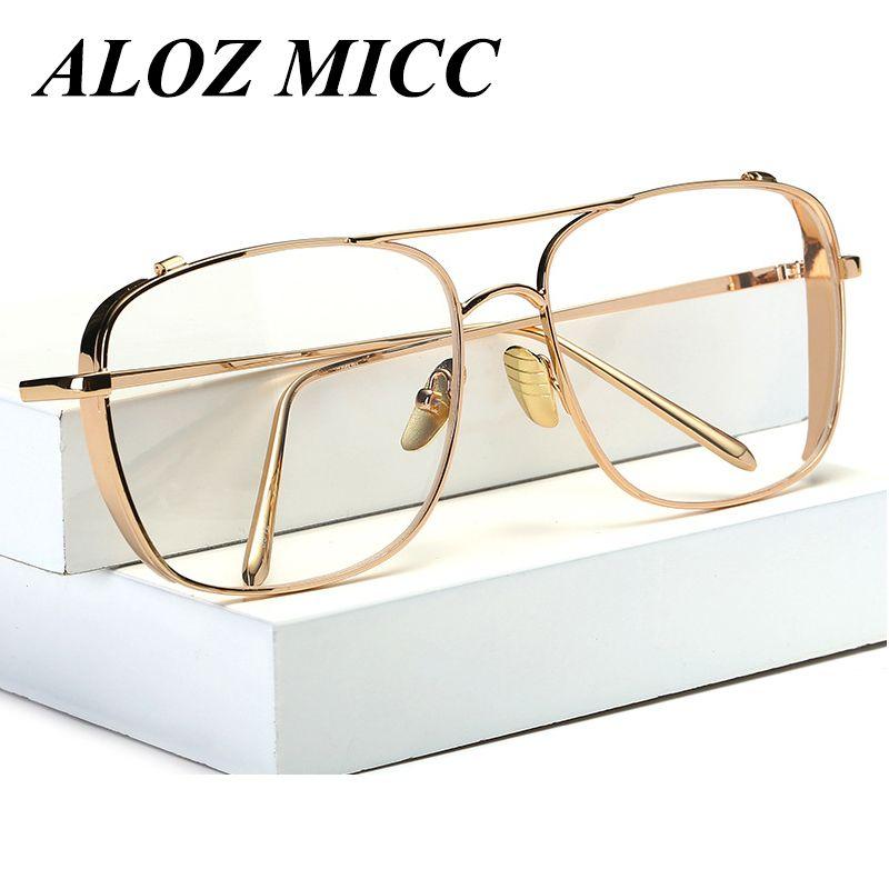 تصميم ألوز MICC Framer Framework نساء عتيق Men Clear Frame Eyeglasses New Oculos De Sol Lentes UV400 A217