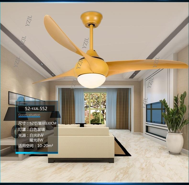 Inverter simple fashion LED remote control fan light ceiling fan light dining room mute fan light ceiling fans 52inch