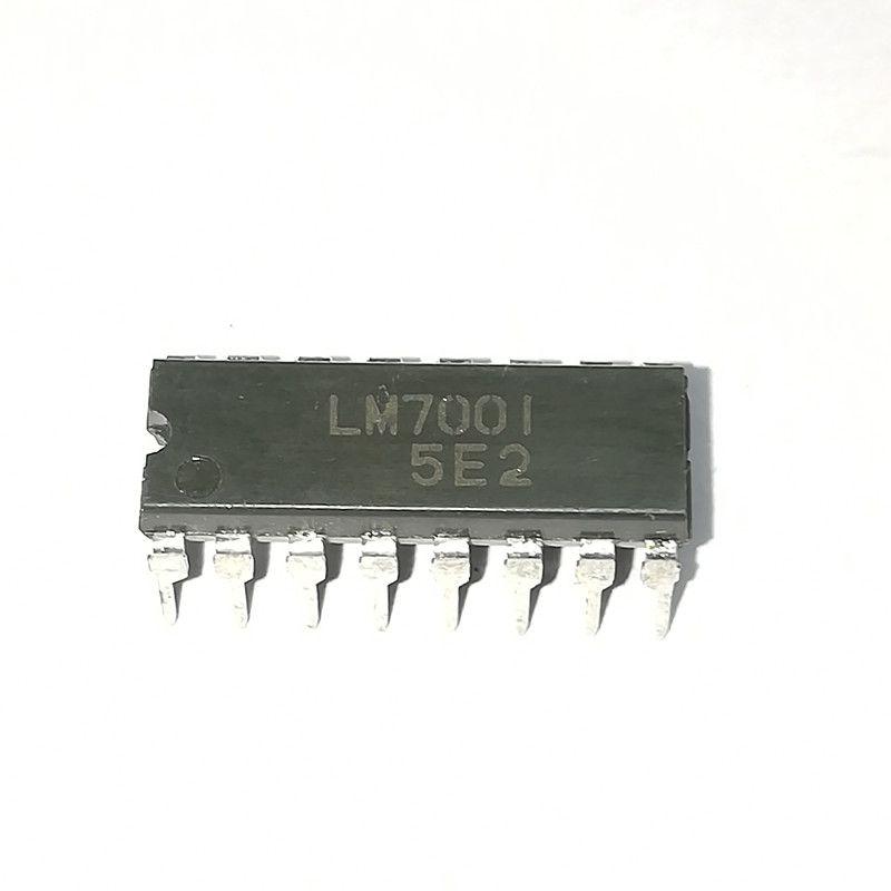 LM7001. LM7001J, pacote plástico de 16 pinos em linha dupla. Circuito integrado IC do SYNTHESIZER da FREQÜÊNCIA de PDIP16 / PLL / componentes eletrônicos
