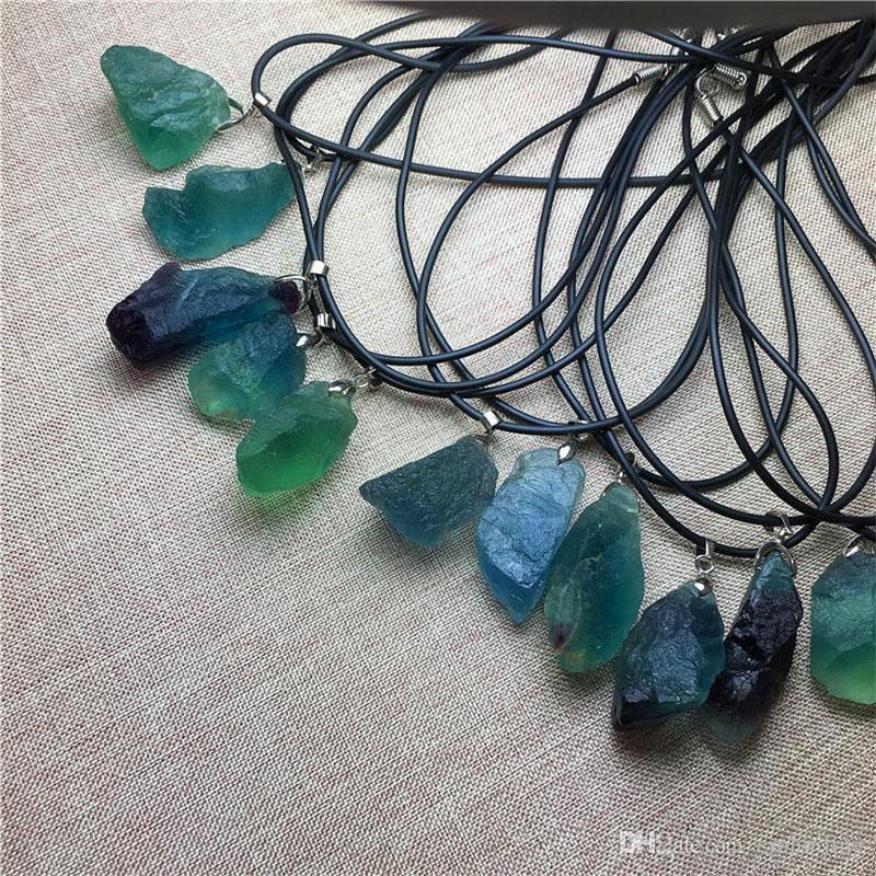 Fluorite Heart Pendant Necklace Reiki Infused