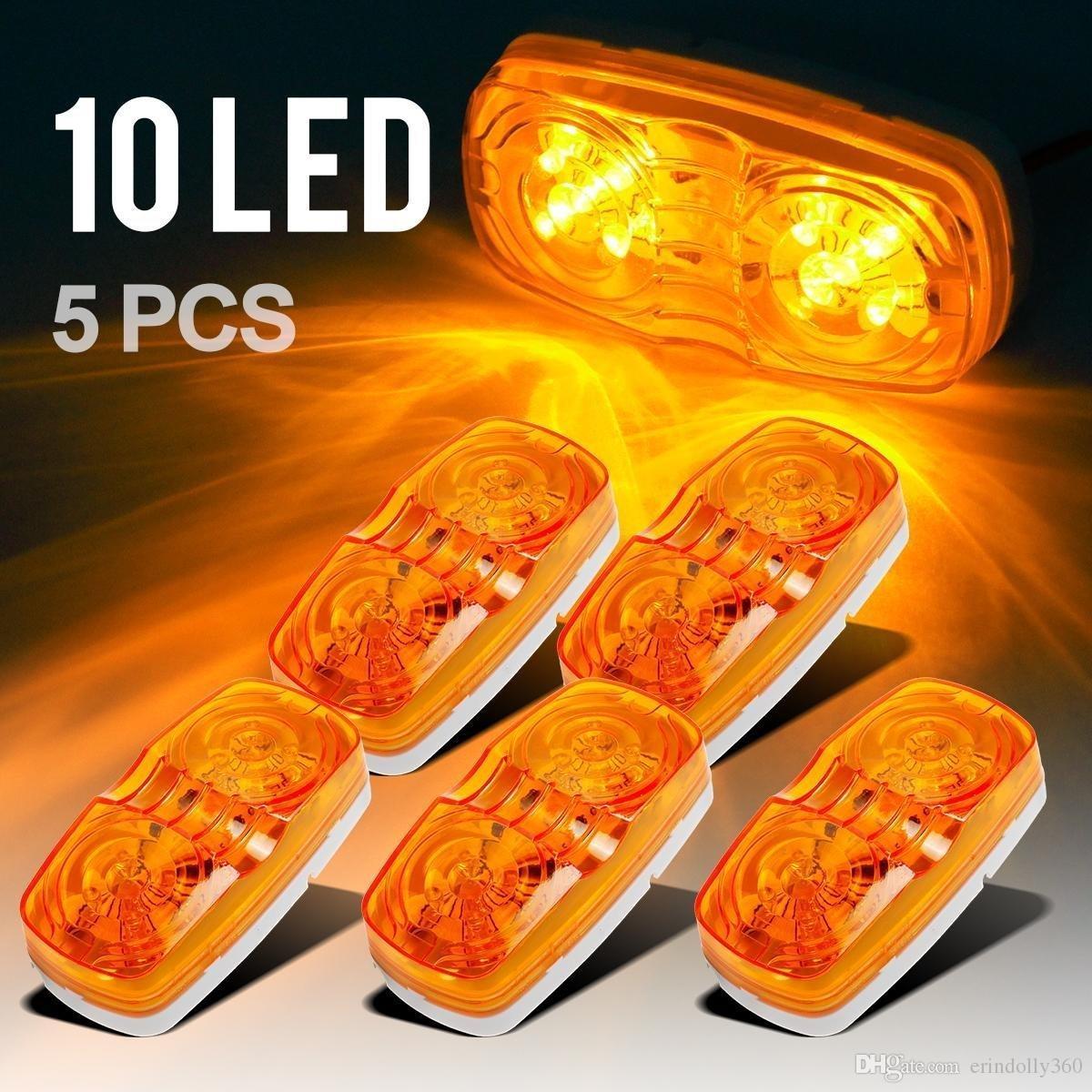 Trailer Marker LED Light Bullseye doppio 10 diodi Clearance Light Red 5PCS