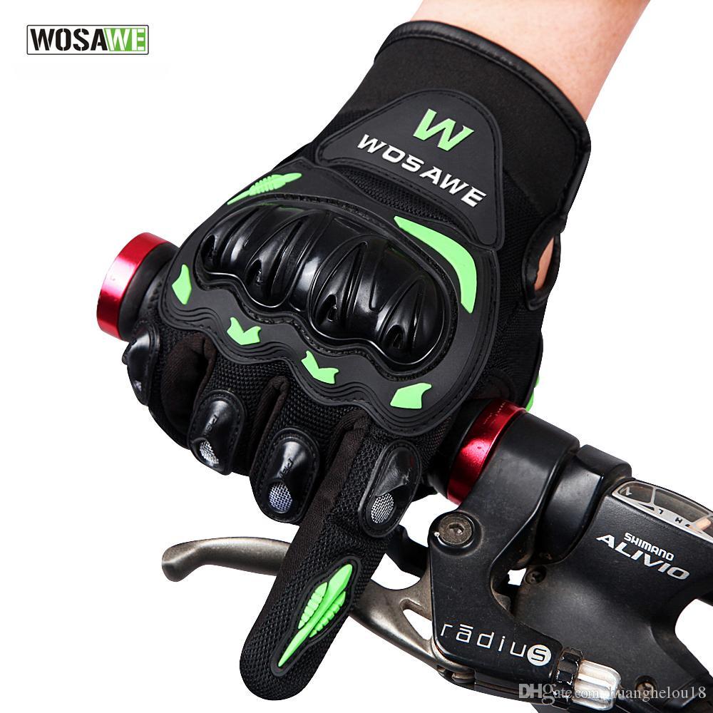 WOSAWE Motorrad Handschuhe Wasserdicht Winddicht Schutz Racing Handschuhe Vollfinger Atmungsaktive Guantes Luvas Für Vier Jahreszeiten BST-015