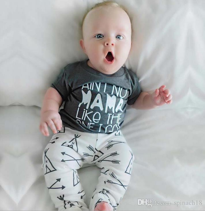 2019 Cute Baby Clothing Sets Summer Baby Boy Clothes Shorts Sleeve Letter S Print T Shirt Pants Kids Children Outfits Clothing Sets 3215 From