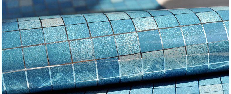 Großhandel Bad Wasserdichte Wandaufkleber PVC Mosaik Fliesen Tapete  Küchenwände Papier Öl Proof Aufkleber Selbstklebende Tapeten Von  Qwonly_shop, ...