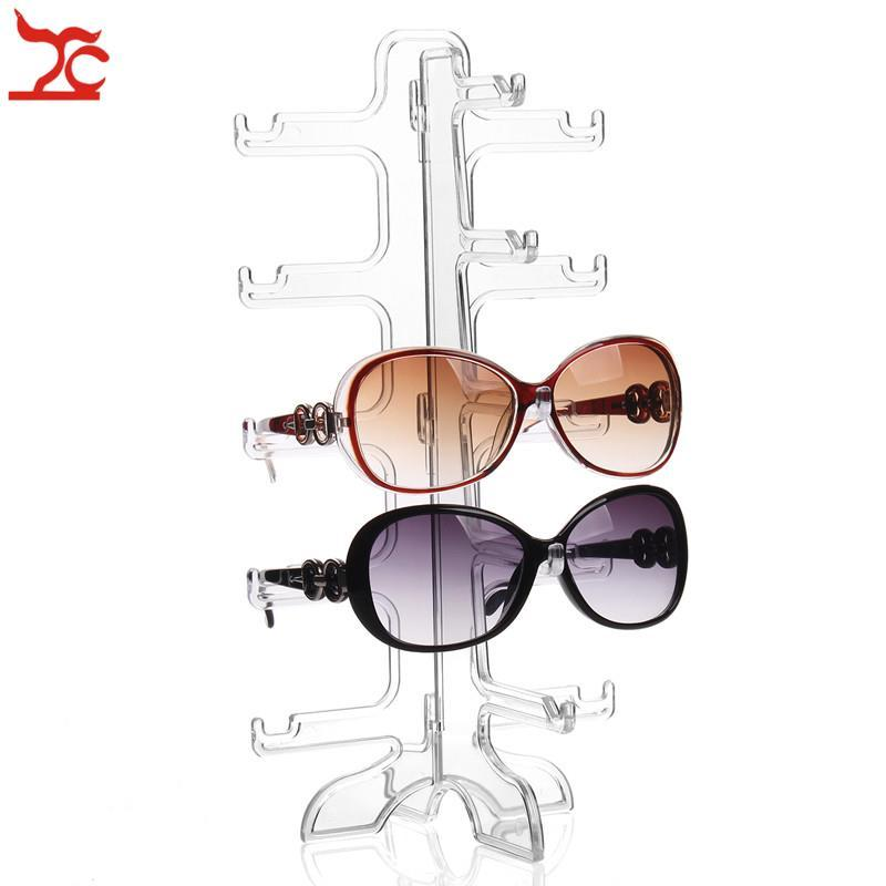 Free Shipping 5 pairs Acrylic Sunglasses Showing Rack Holder 5 Layer Clear Glasses Display Stand Frame