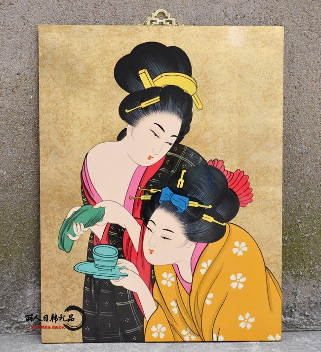 Ristorante giapponese hotel ristorante decorazione pittura decorativa donne giapponesi appesi regali aziendali lacca