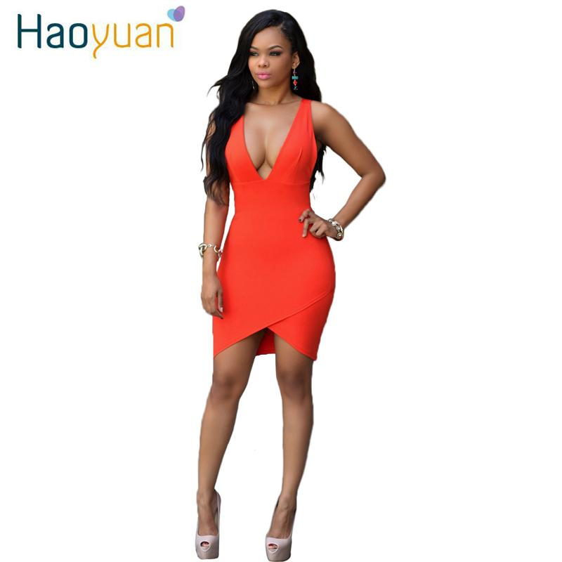 2017 kadınlar yaz seksi kulübü dress bodycon bandaj gece parti dress derin v yaka backless dress orange slim elbiseler vestidos robe 17301