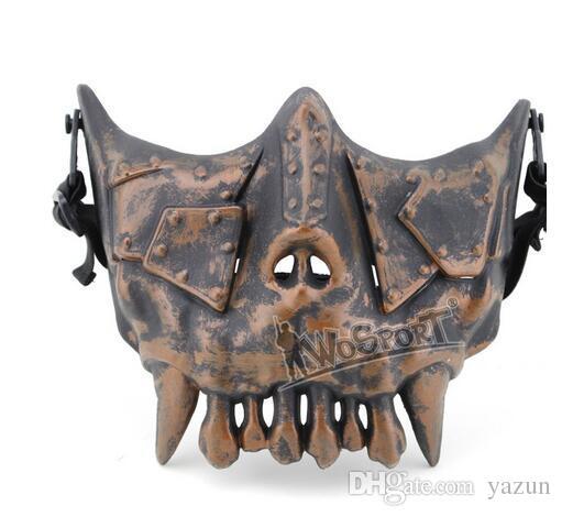 WoSporT Desert Legion V3 Mask Half Face Steel Net Airsoft Outdoor Game Military Use Training Protective Mask,Phantom training mask