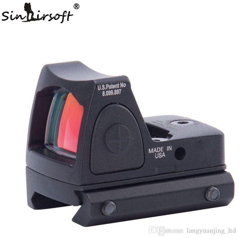 2016 جديد ريد دوت نمط البصر نطاق التكتيكية للتعديل ريد دوت البصر نطاق ل بندقية نطاق الصيد picatinny السكك الحديدية الرماية riflescopes