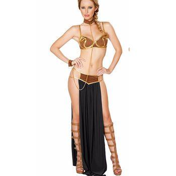 Sexy Egyptian Goddess Arabia Princess Costume Western Movie Leia Prisoner Dress Costume Halloween Cospaly Clothes