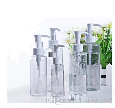 2017 New hot sale 50ml PET pump bottle Cleansing Oil flat bottles, plastic lotion bottles freeing shipping