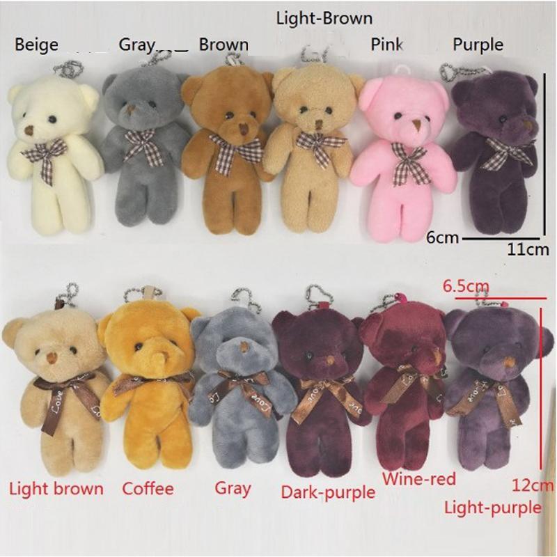 12CM Adorable Soft Teddy Bear Brown Plush Kids Baby Toys Birthday Gift Lovely