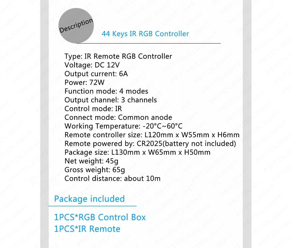 Großhandel 24 Schlüssel 44 Schlüssel IR-Draht-Fernsteuerungs-DC5 ...