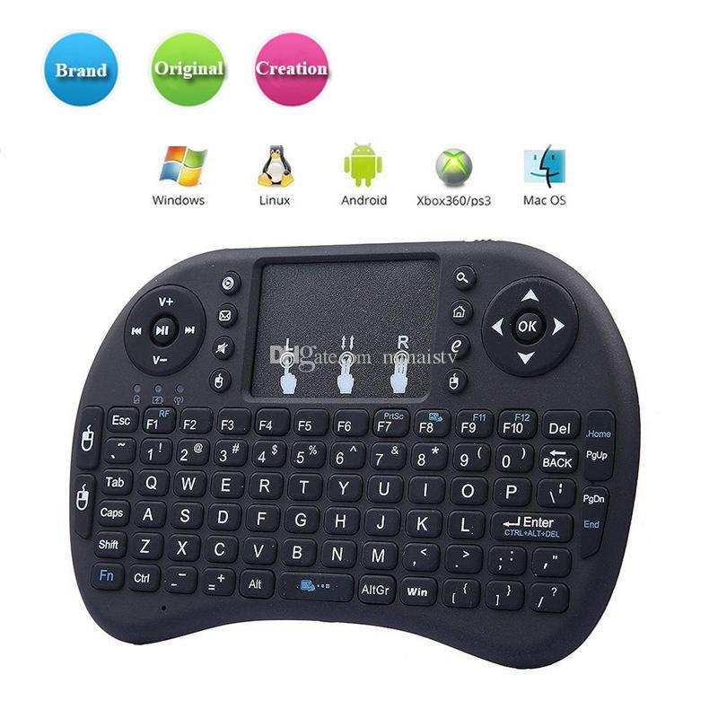 Mini Ratón de teclado inalámbrico Combo Rii i8 Fly Air Mouse Control remoto multimedia Touchpad DPI para TV Box Tablet con paquete minorista