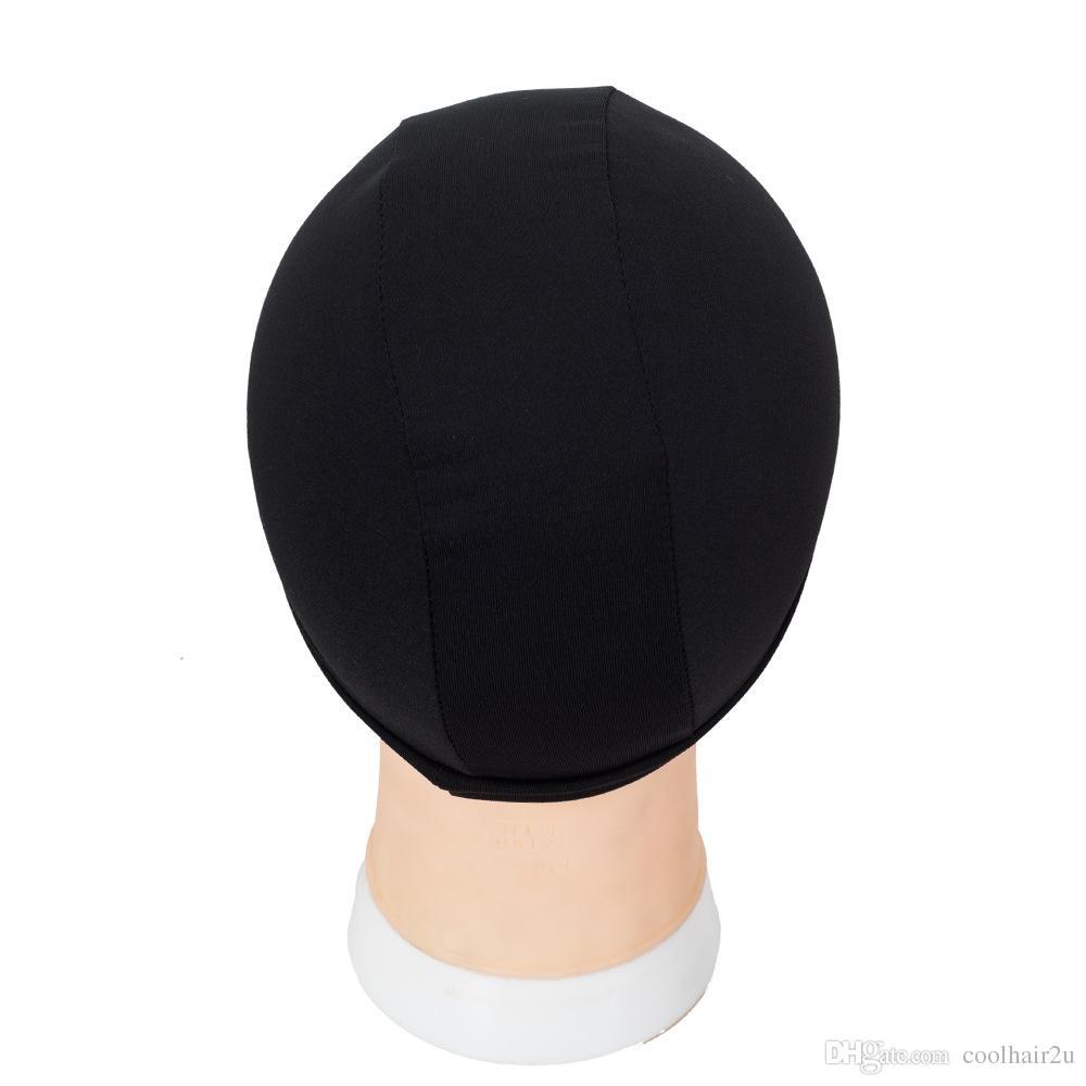 8pcs 직조 모자 스 판 덱 스 돔가 발 모자를 만들기위한 모자 검정 직조 모자 보이지 않는 머리 그물 나일론 스트레칭 가발 그물 모자