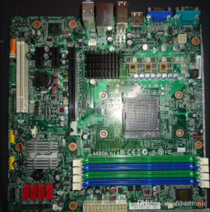 Original 03T6227 A880M V1.0 RS880PM-LM Motherboard For LENOVO M77/M7100T/M5170T Socket AM3 DDR3 880G Desktop Mainboard with DP COM PCI
