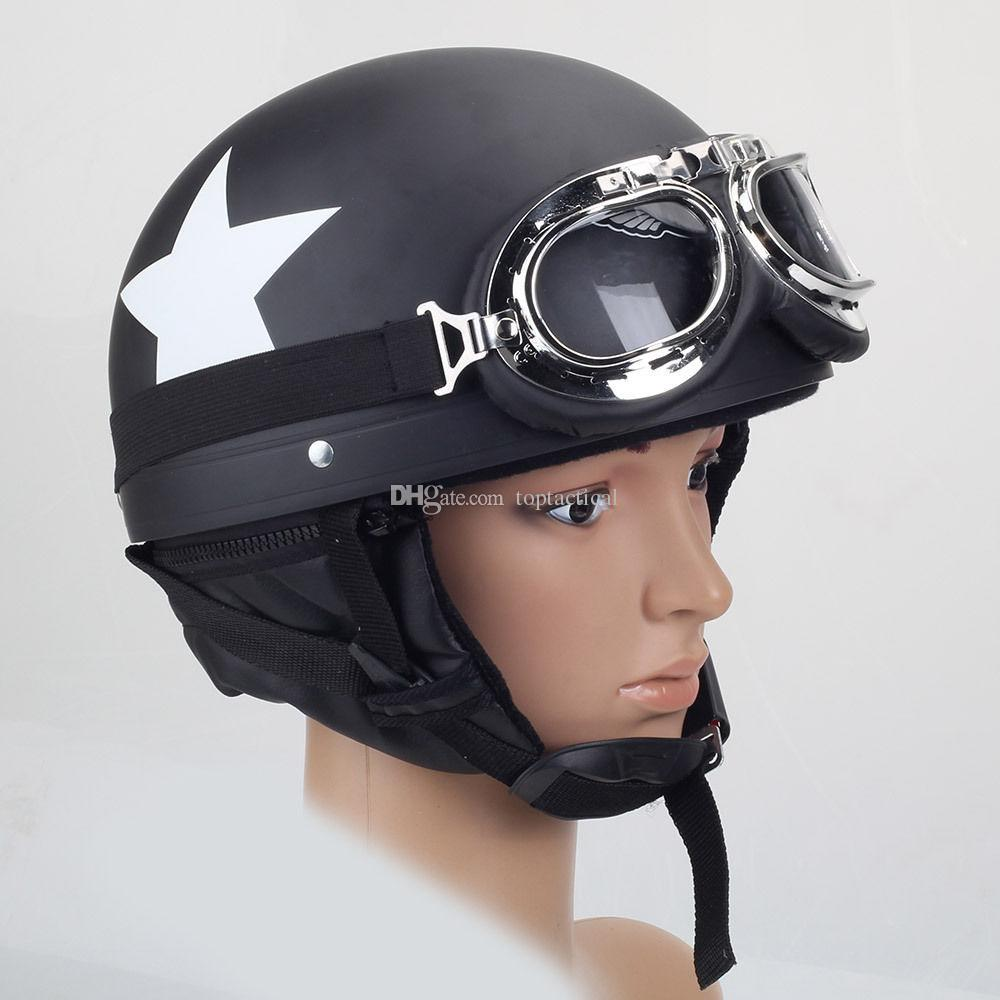 Wholesale New DOT ABS Motorcycle Half-face Harley Safety Helmet Prince Helmet Couples Protective Helmet with Pilot Goggles