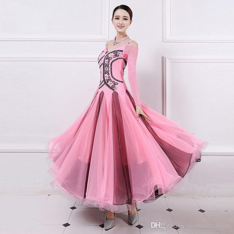 Ballroom Competition Dance Dresses Women Flamenco Tango Waltz Dancing Custome High Quality Lady's Stage Dance Dress