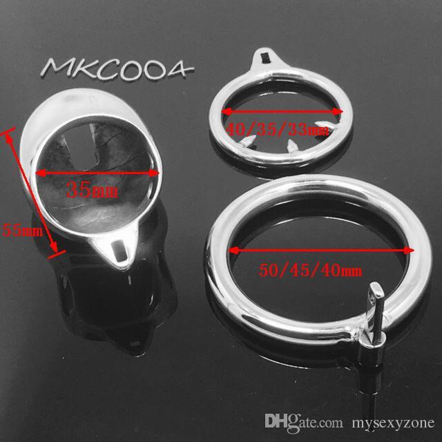 Нержавеющая сталь супер маленький мужской целомудрийный аппарат взрослого петуха клетка с кривым петух кольцо BDSM CB6000s петух клетки тюрьма птица MKC004