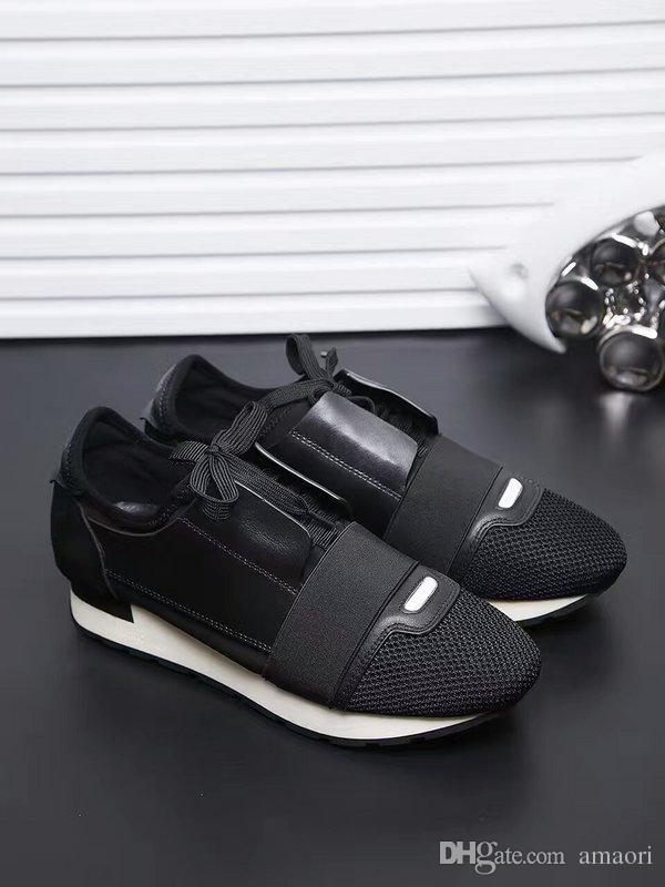디자이너 신발 MENS 럭셔리 신발 2019 NEW BRAND 싼 패션 FLATS 주자 RACER 캐주얼 신발 WOMENS