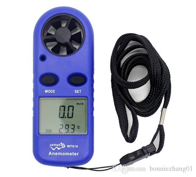 10 قطع الرقمية lcd مقياس شدة الريح + ترمومتر الأشعة ل سرعة الرياح مقياس متر درجة الحرارة WT816