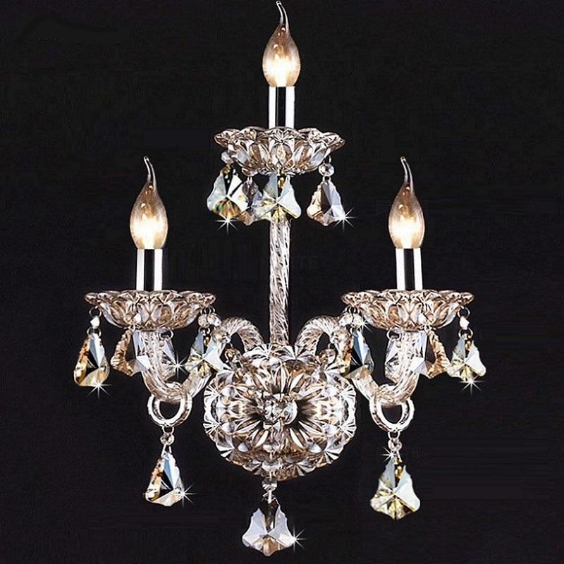 Luxury Wall Sconce Lighting European-style wall lights mirror front lamp bedside crystal lamp Wall lamp bedroom