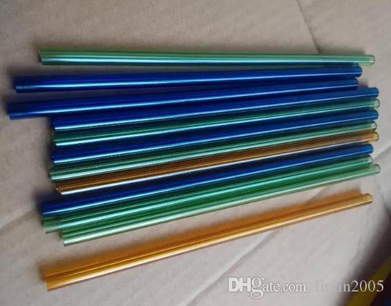 Vendita calda all'ingrosso di accessori per narghilè in vetro lungo 20 cm diametro 8 mm tubo in vetro colorato colore consegna casuale