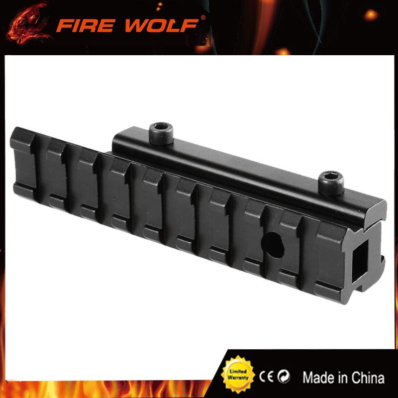"FIRE WOLF Scope Adapter Rail Mount Crossbow Airgun 3/8"" Dovetail to 7/8"" Weaver Picatinny 11 to 20mm Rifle Pistol Airsoft Base"