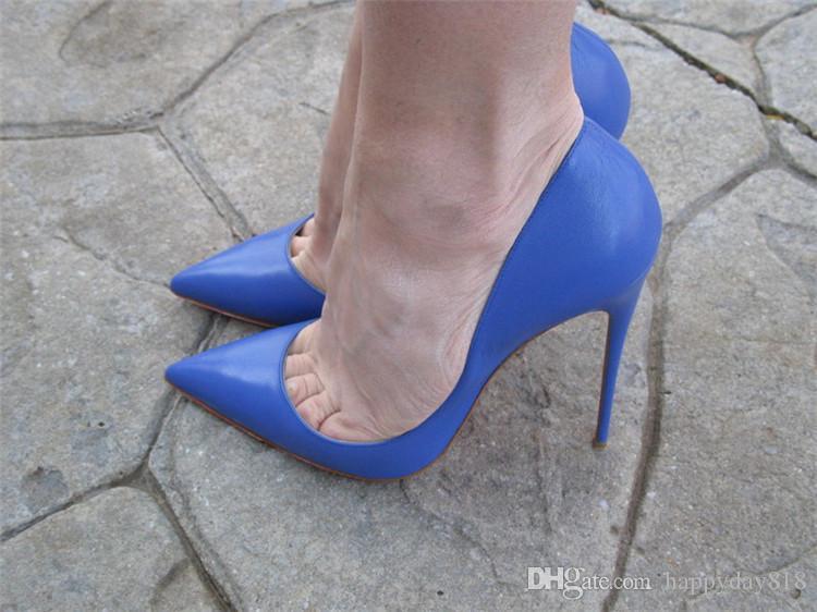 Shoes//Boots High Heel Shoe-Blue