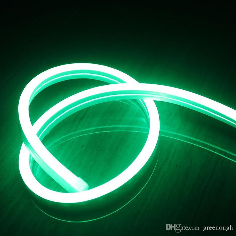 100M AC110V AC220V SMD2835 Luz de tira de neón LED flexible Luz de cuerda de neón LED 6W 90LEDS 120LEDS Luz de neón LED Decoración navideña