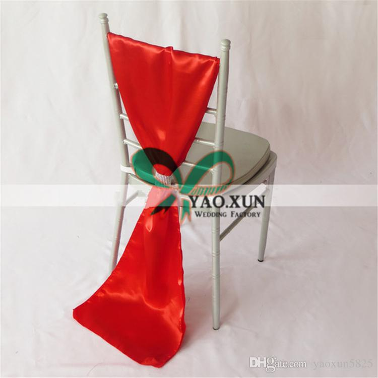 Satin Chair Sash \ Chair Bow Include Buckle Used For Chiavari Chair Free Shipping