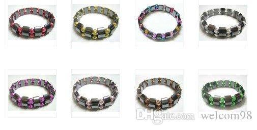 10 pz / lotto nero magnetico bracciali sani 8 pollici per il regalo di gioielli artigianali fai da te spedizione gratuita MG1