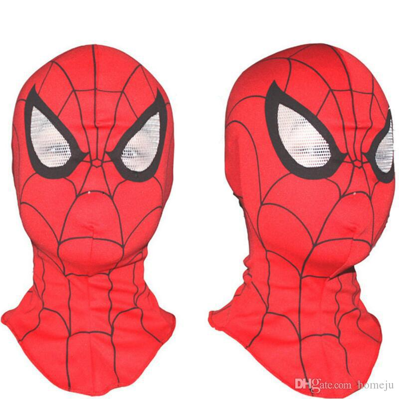 Super Cool Spiderman Cosplay Party Masks Full Head Face Halloween Masks High Quality Wholesale Free Shipping