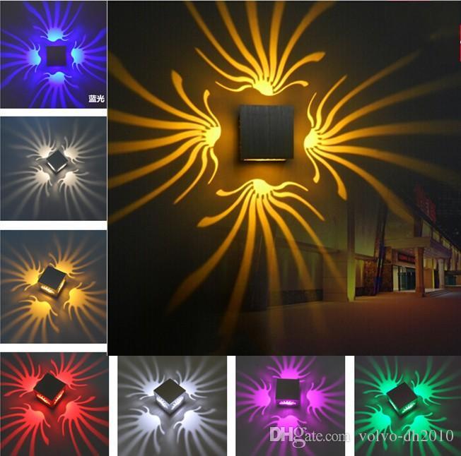 100% aluminium original led wandleuchte für hauptdekoration beleuchtung neue rgb farbe mit modernen mode-stil lampen in ktv bar llfa